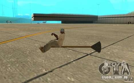 Flying Broom para GTA San Andreas traseira esquerda vista