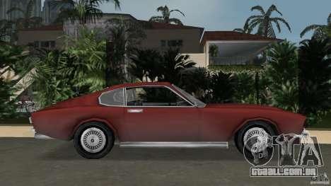 Aston Martin V8 Vantage 5.3 1969-1989 para GTA Vice City deixou vista
