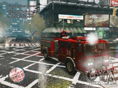 New LCFD Car para GTA 4 esquerda vista