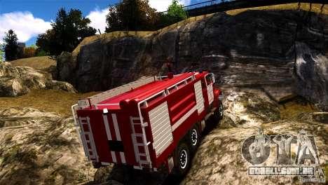 ZIL 433474 bombeiro para GTA 4 esquerda vista