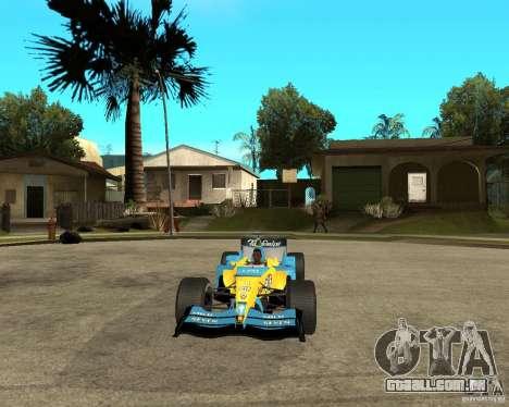 Renault F1 para GTA San Andreas vista traseira