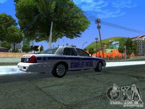 Ford Crown Victoria Police Interceptor 2008 para GTA San Andreas traseira esquerda vista
