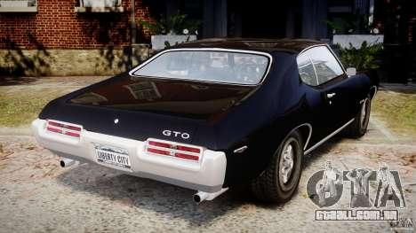 Pontiac GTO Judge para GTA 4 traseira esquerda vista