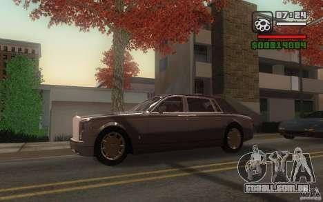 Rolls-Royce Phantom EWB para GTA San Andreas vista traseira