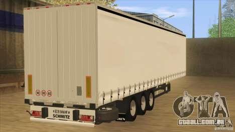 SchmitZ Cargobull para GTA San Andreas esquerda vista