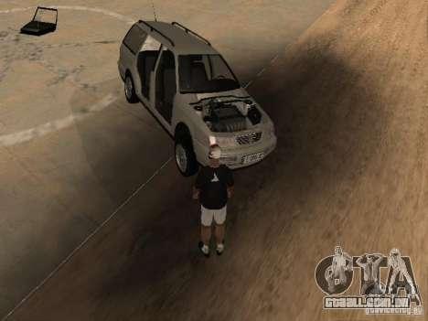 Volkswagen Passat B4 para GTA San Andreas vista inferior