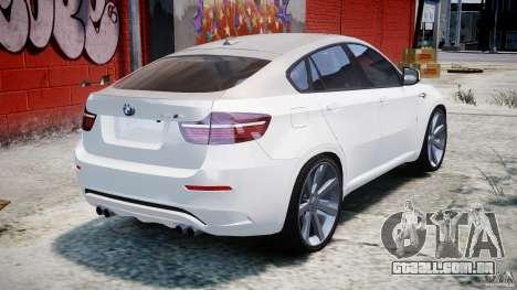 BMW X6M v1.0 para GTA 4 vista superior