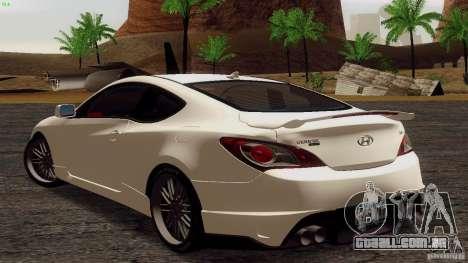 Hyundai Genesis Tunable para GTA San Andreas vista direita