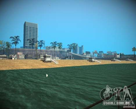 New textures beach of Santa Maria para GTA San Andreas