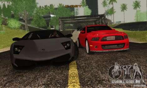 Lamborghini Murcielago LP 670-4 SV para GTA San Andreas vista interior