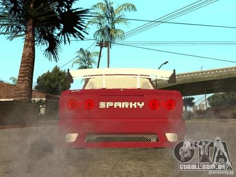 VAZ 2107 Sparky para GTA San Andreas traseira esquerda vista