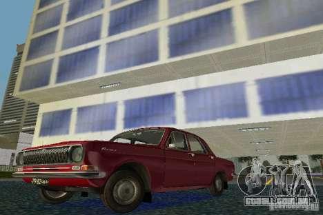 Volga GAZ 24 para GTA Vice City deixou vista