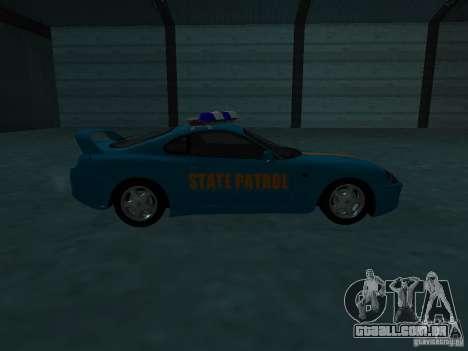 Toyota Supra California State Patrol para vista lateral GTA San Andreas