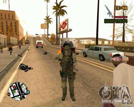 Ghost para GTA San Andreas quinto tela