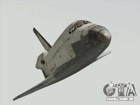 Space Shuttle para GTA San Andreas vista direita