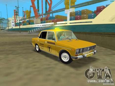 VAZ 2106 táxi v 2.0 para GTA Vice City deixou vista