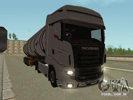 Scania R700 Euro 6 para GTA San Andreas traseira esquerda vista