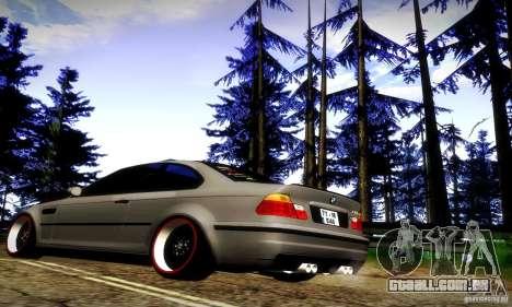 BMW M3 JDM Tuning para GTA San Andreas vista traseira