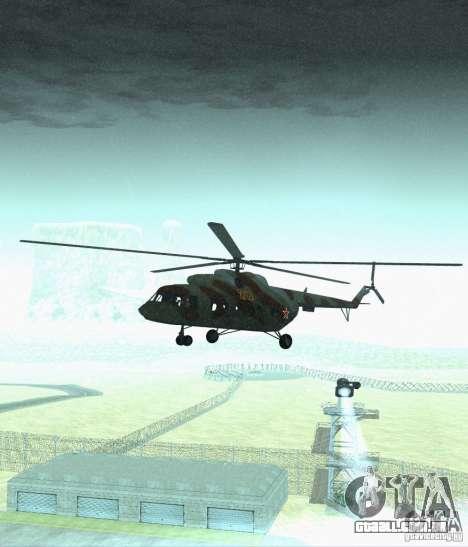 MI-17 militares para GTA San Andreas vista traseira