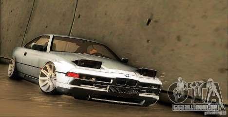 BMW 850 CSI para GTA San Andreas esquerda vista