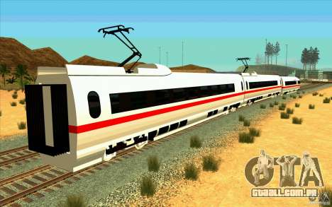 ICE3 Train para GTA San Andreas esquerda vista