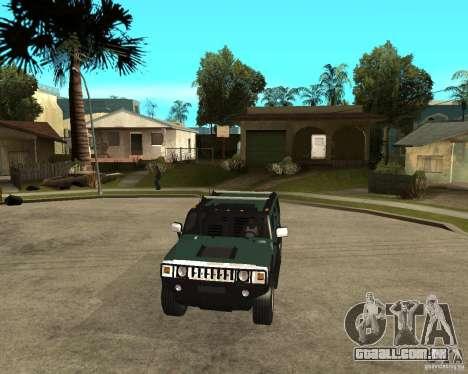 AMG H2 HUMMER SUV para GTA San Andreas vista traseira