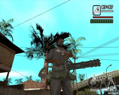 Hand Held M134 Minigun para GTA San Andreas segunda tela