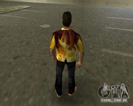 Camisa com chamas para GTA Vice City terceira tela