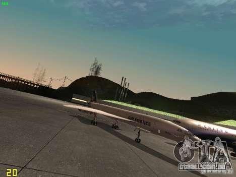 Aerospatiale-BAC Concorde Air France para GTA San Andreas traseira esquerda vista