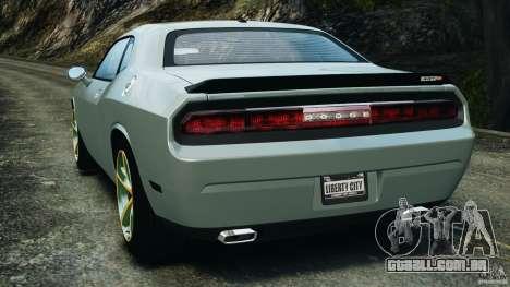 Dodge Challenger SRT8 2009 [EPM] para GTA 4 traseira esquerda vista