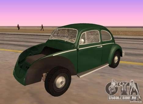 Volkswagen Beetle 1963 para GTA San Andreas vista direita