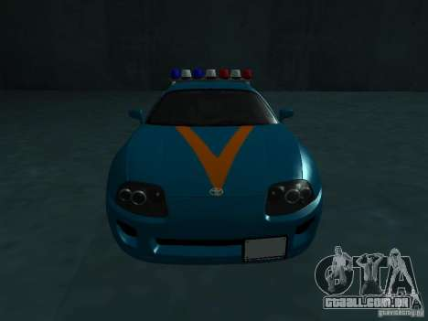 Toyota Supra California State Patrol para GTA San Andreas vista traseira
