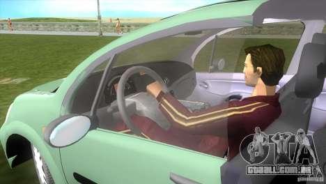 Citroen C3 para GTA Vice City vista traseira esquerda