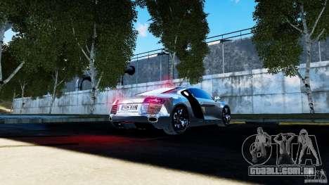 Audi R8 Spider 2011 para GTA 4 vista lateral