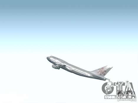 Boeing 747-400 China Airlines para vista lateral GTA San Andreas