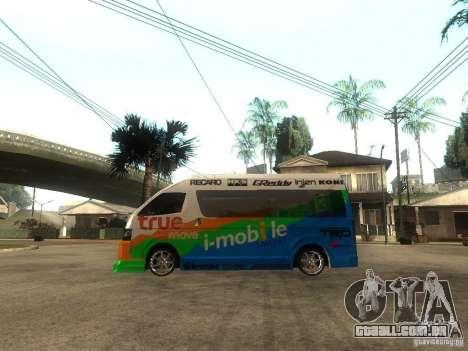 Toyota Commuter VIP Van para GTA San Andreas esquerda vista