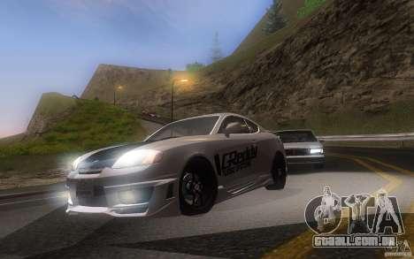Hyundai Tiburon V6 Coupe tuning 2003 para GTA San Andreas esquerda vista