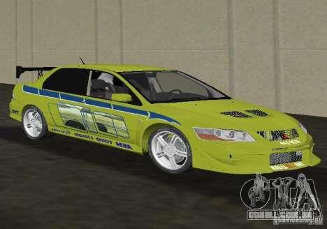 Mitsubishi Lancer Evolution VII para GTA Vice City vista direita