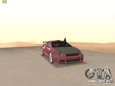 Mitsubishi Eclipse GT NFS-MW para vista lateral GTA San Andreas