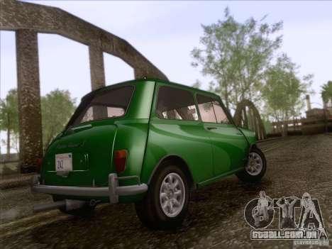 Austin Cooper S 1965 para GTA San Andreas vista traseira