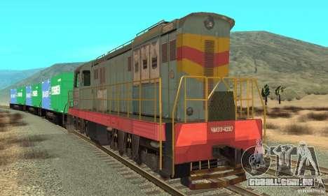Locomotiva ChME3-4287 para GTA San Andreas esquerda vista