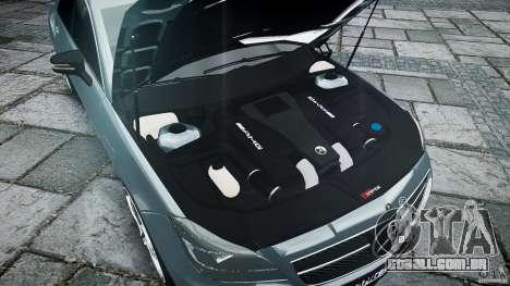Mercedes Benz CLS 63 AMG 2012 para GTA 4 vista inferior