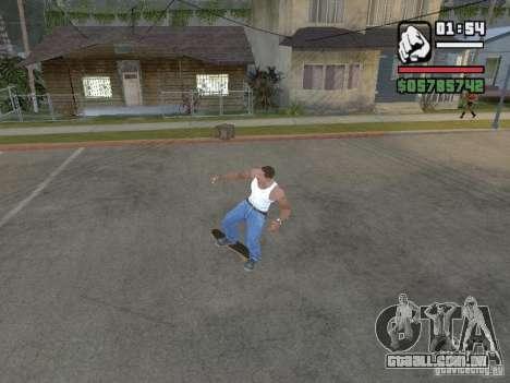 Skate para GTA SA para GTA San Andreas quinto tela