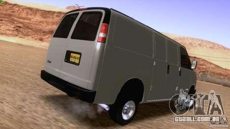 Chevrolet Savana 3500 Cargo Van para GTA San Andreas vista direita