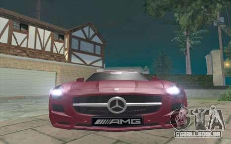 Mercedes-Benz SLS AMG 2011 V3.0 para GTA San Andreas esquerda vista