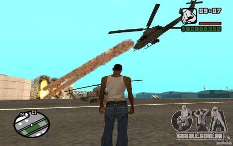 Apoio aéreo quando atacando. para GTA San Andreas segunda tela