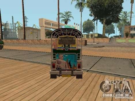Tuk Tuk Thailand para GTA San Andreas traseira esquerda vista