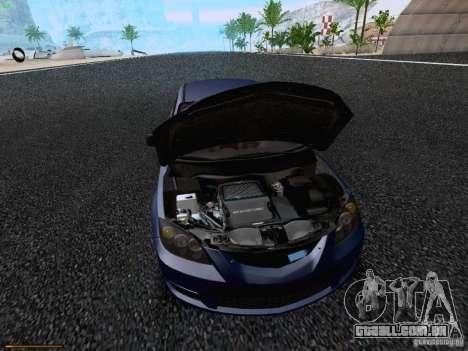 Mazda Speed 3 para GTA San Andreas vista traseira