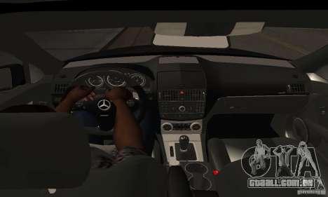 Mercedes-Benz C180 para GTA San Andreas vista traseira
