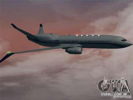 Boeing 737 Iron Man Bussines Jet para GTA San Andreas vista traseira